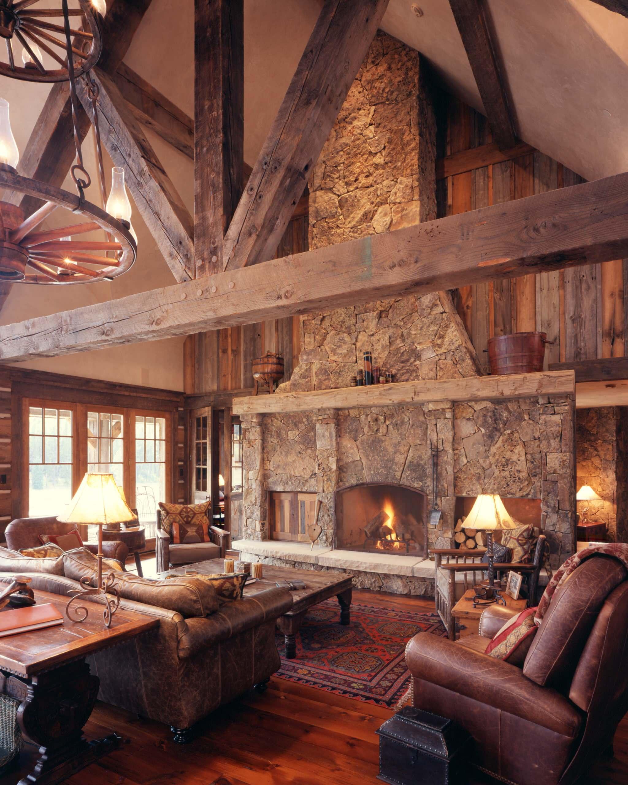 Western Homestead Ranch Living Room, Ranch Living Room Ideas