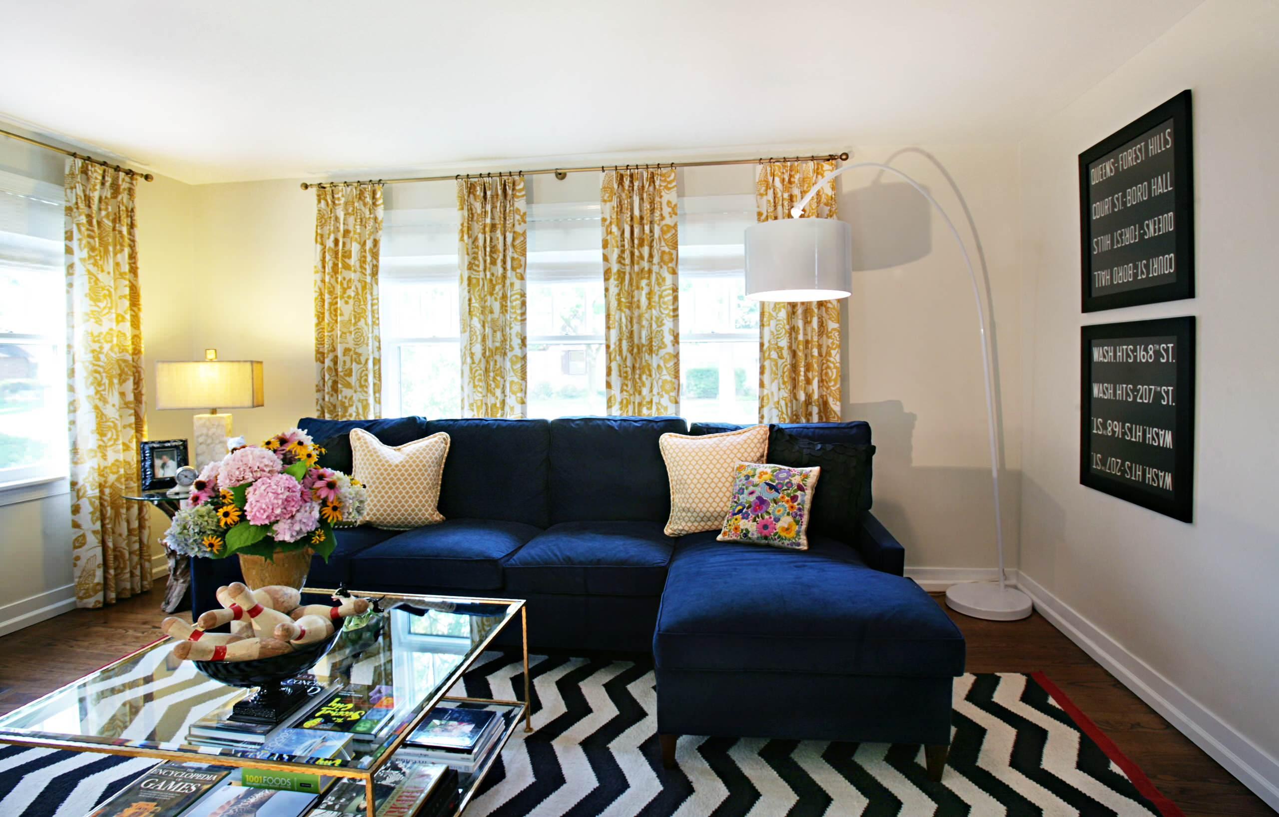 Blue Sectional Sofa Ideas Houzz