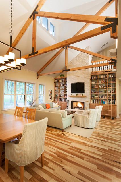 Westlake Craftsman Remodel traditional-living-room
