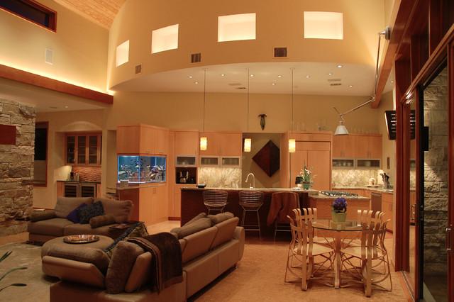 Westlake Residence contemporary-living-room