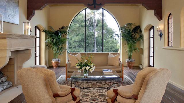 Living room - mediterranean living room idea in San Francisco