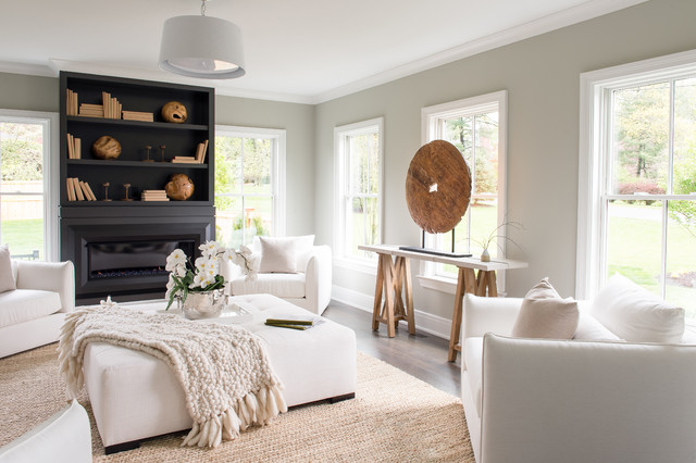 Westport Ct Beach Style Living Room New York By Hogue Interior Design Llc