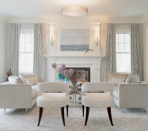 Neutral all-white living room (Intense White)
