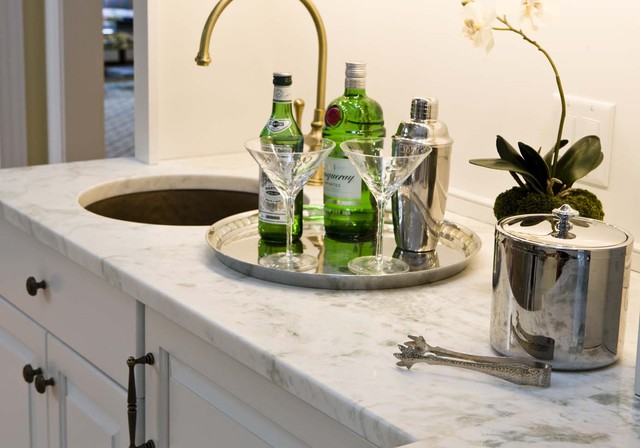 Wet Bar Traditional Living Room Richmond By Kirsten Nease Designs