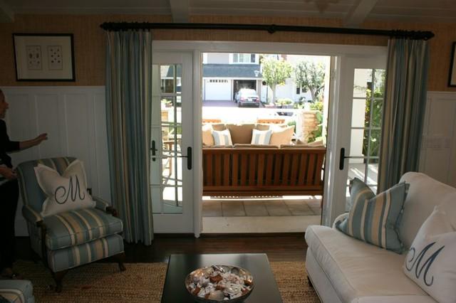 Weybridge beach-style-living-room