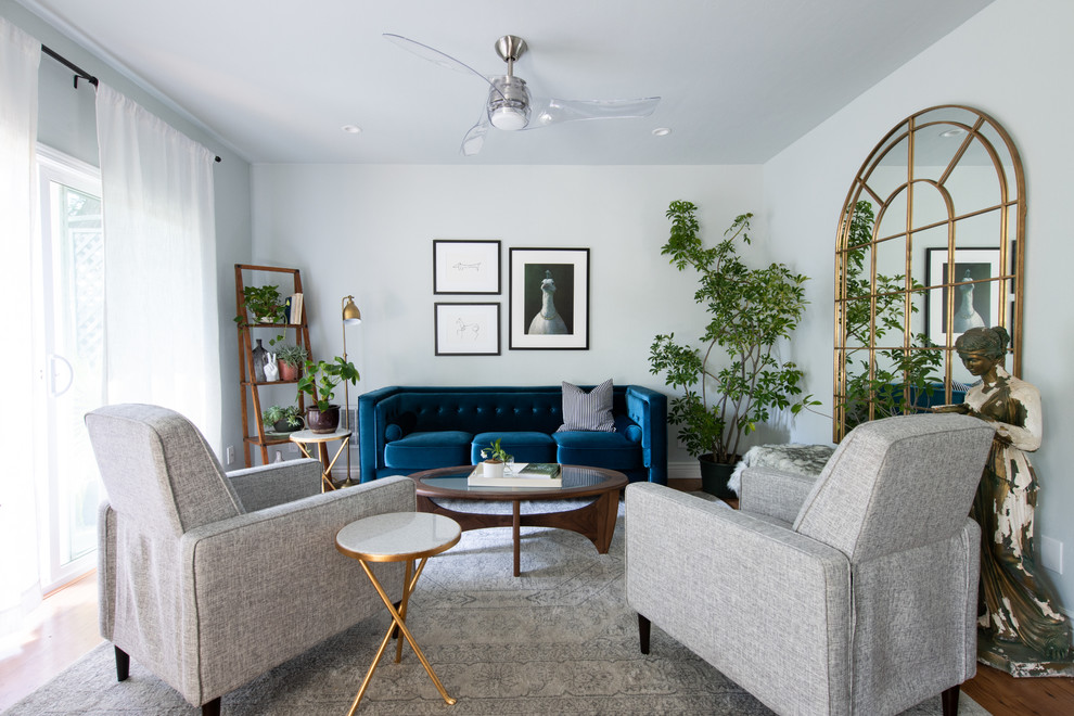 Transitional living room photo in San Francisco