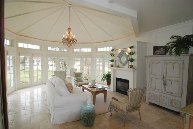 Whidbey Island Beach House  - Sunroom addition beach-style-living-room
