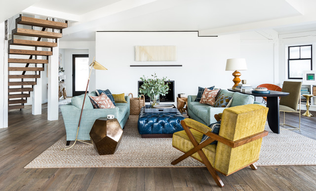 midcentury living room by brian paquette interiors - Trending Living Room Colors