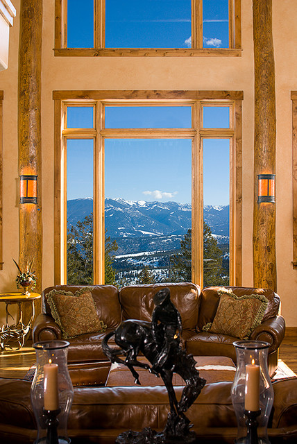 Whispering Pines; Big Sky, MT traditional-living-room
