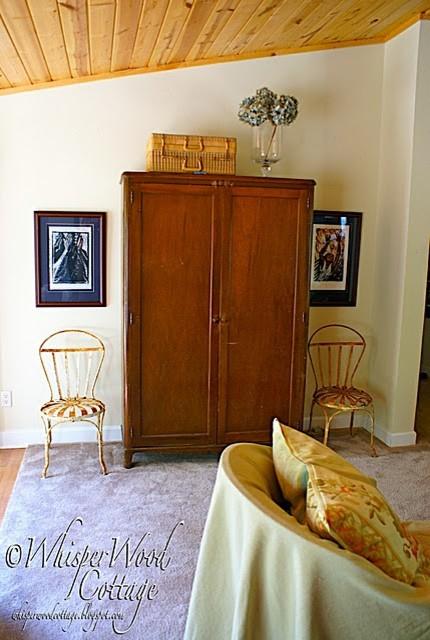WhisperWood Cottage Living Room traditional-living-room