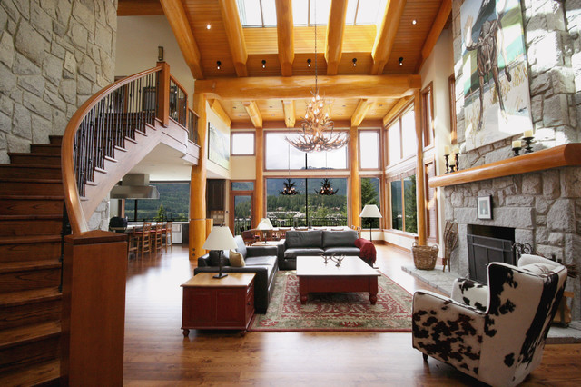 Whistler Post And Beam Log Home Contemporary Living