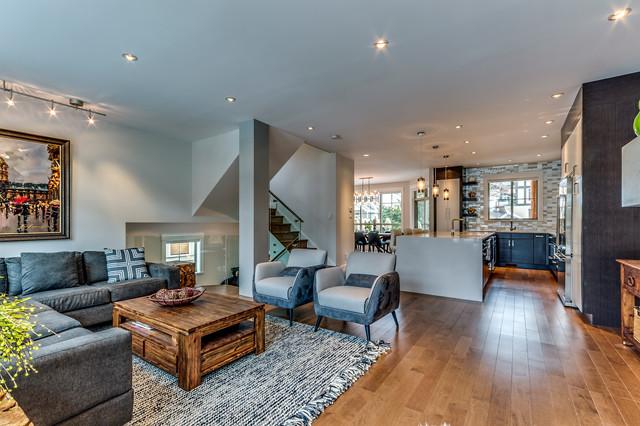 whistler white oak modern  modern  living room