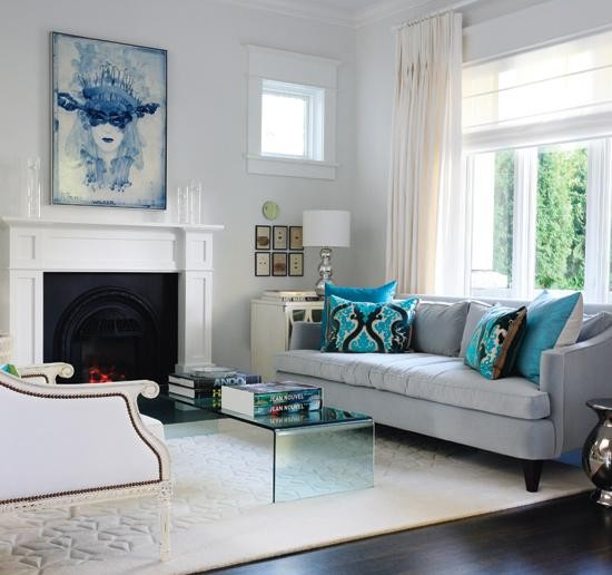 ... Room Ideas Blue With Brown Living Brown Sofa And Houzz.com ... Part 31