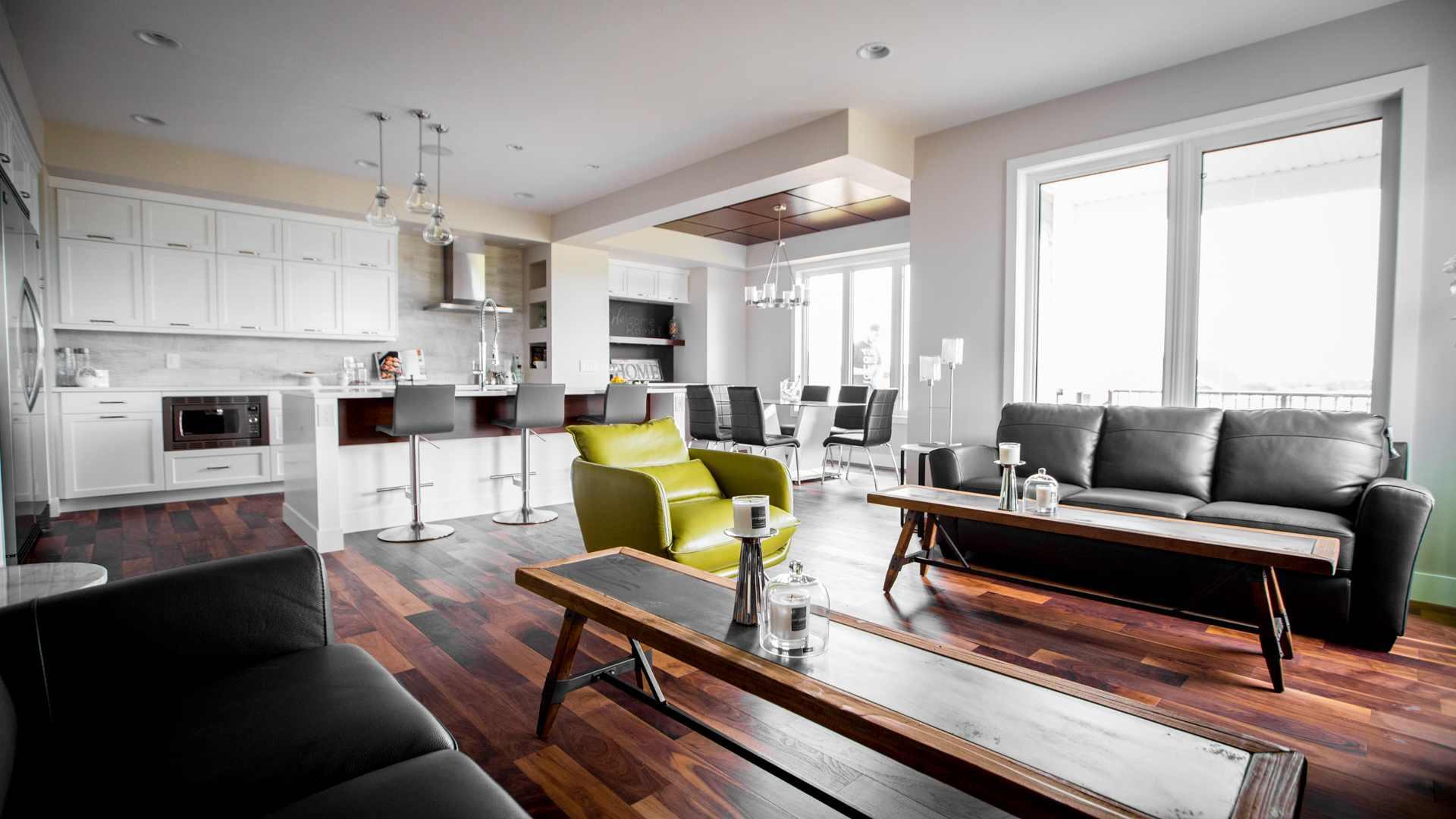 White & Walnut Modern Craftsman Kitchen By Lexis Homes