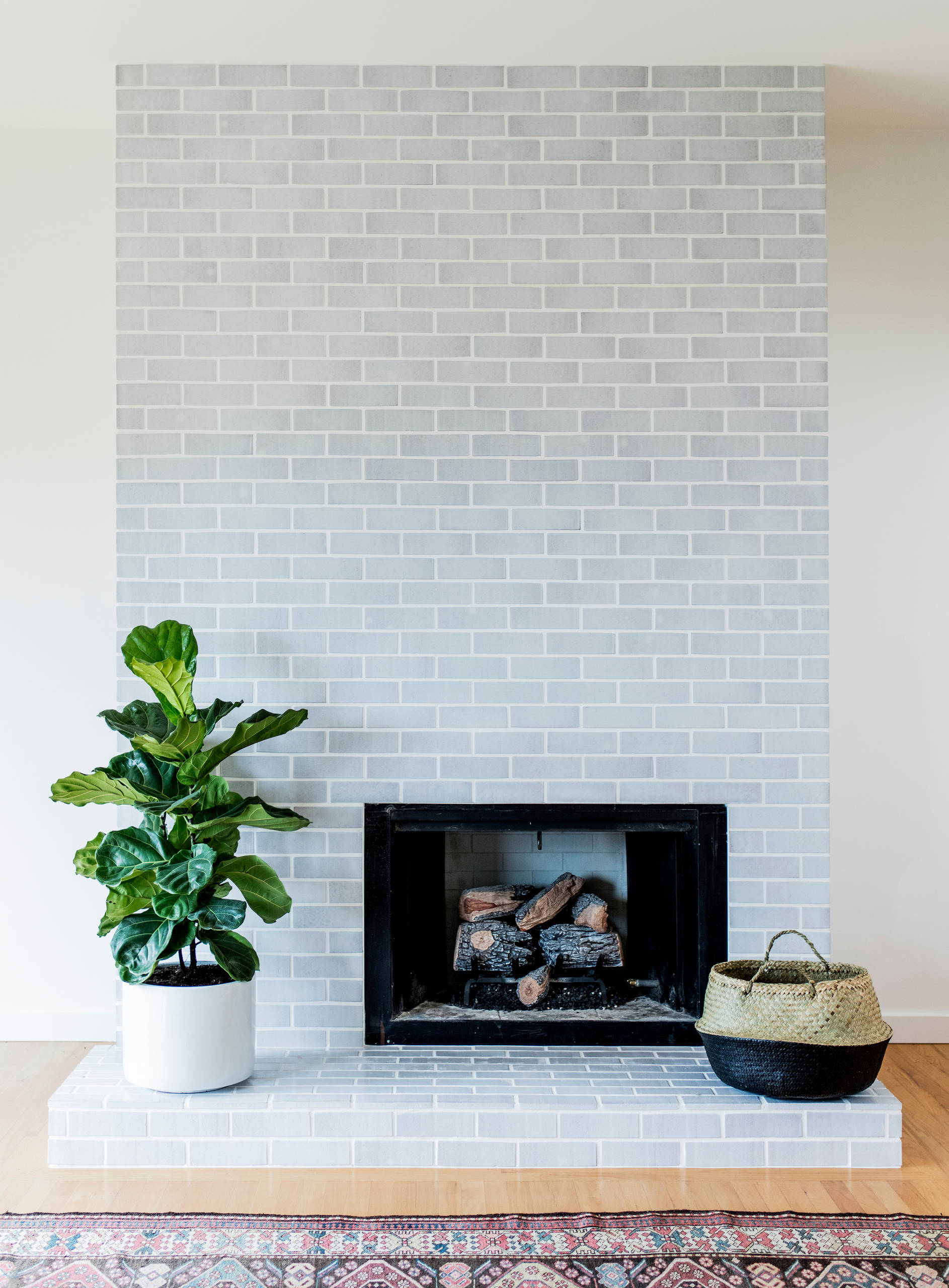 75 Beautiful Midcentury Modern Living Room With A Brick