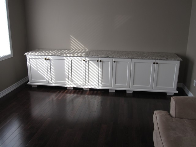 White Credenza - Traditional - Living Room - Toronto - by Tim ...