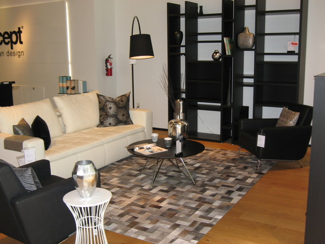 White grey and black for Grey black and white living room