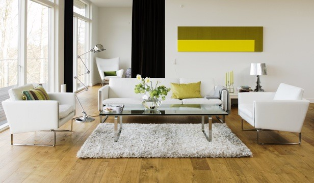 White Leather Contemporary Living Room Contemporary Living Room New York By Suite New York