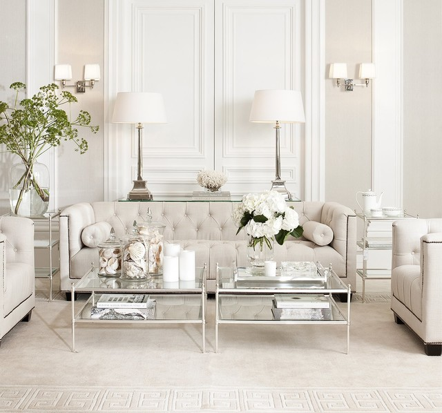 Houzz Home Design Ideas: White Living Room With Eichholtz Furniture