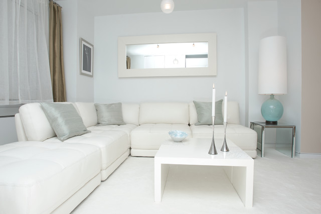 White modern design contemporary living room