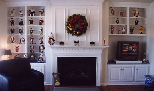 White Painted Fireplace Unit traditional-living-room