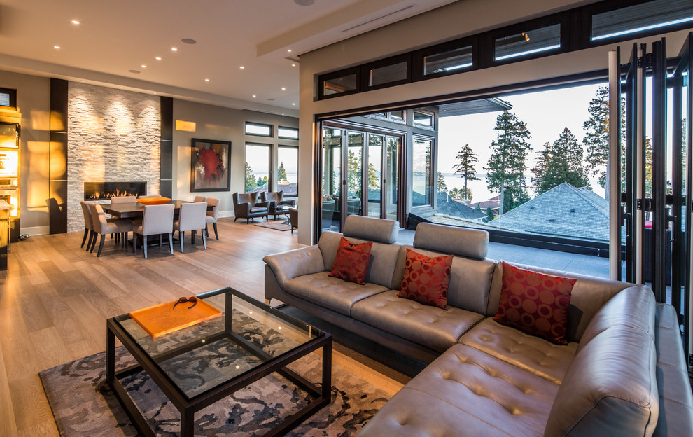 Inspiration for a contemporary living room remodel in Vancouver