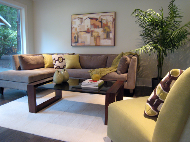 White Rock Staging Contemporary Living Room Part 10