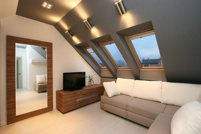 White Sends contemporary-living-room