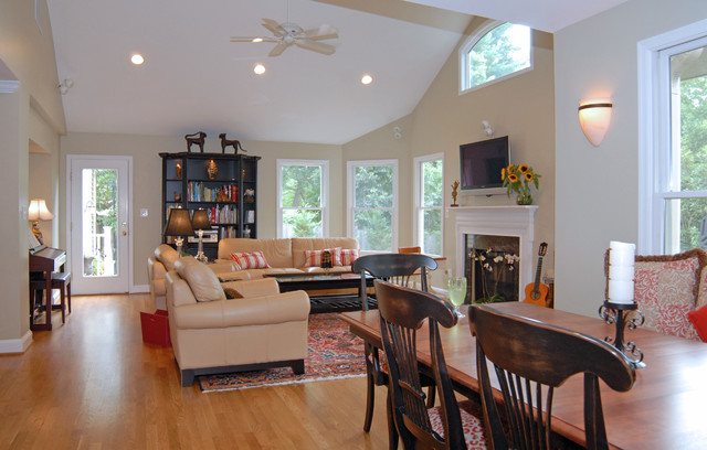 Whole House Remodel With Open Concept Kitchen Traditional Living Room Other By Schroeder
