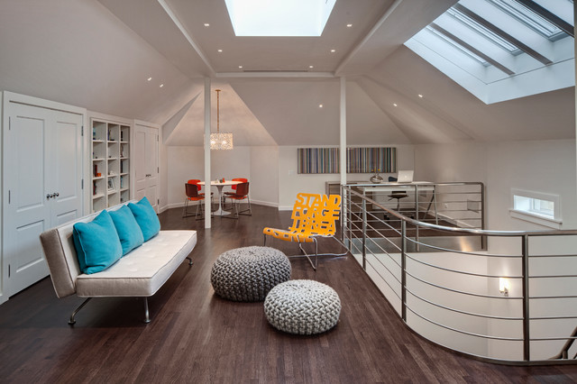 Wicker Park Residence contemporary-living-room