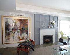 Wide open party rambler contemporary-living-room