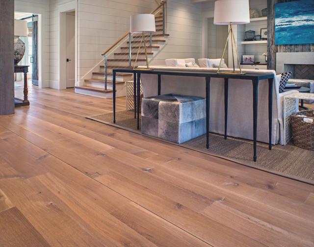 Wide plank white oak wood floor in nashville tn modern for Tennessee hardwood flooring