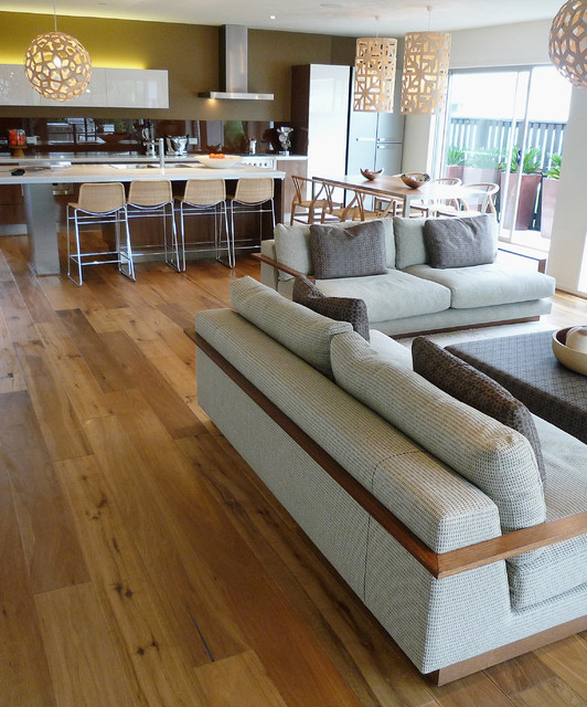 WidePlank Wood Floors in Living Rooms Contemporary Living