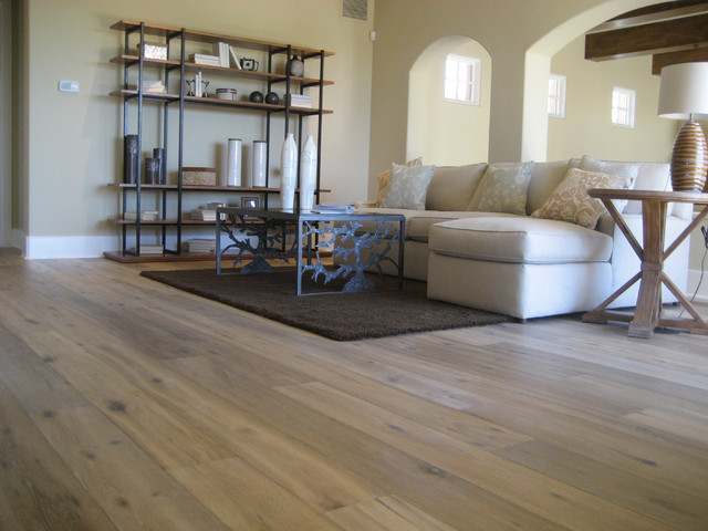 The Wood Flooring San Diego Wide-Plank Wood Floors in Living Rooms - Traditional ...