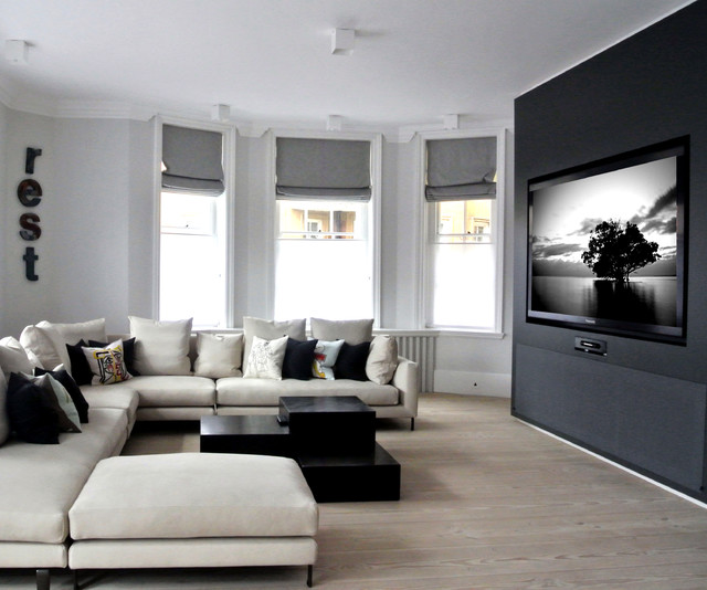 Wide Screen Luxury Contemporary Living Room London By Inspired Dwellings