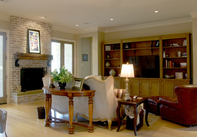 Garden Oaks French Country traditional-living-room