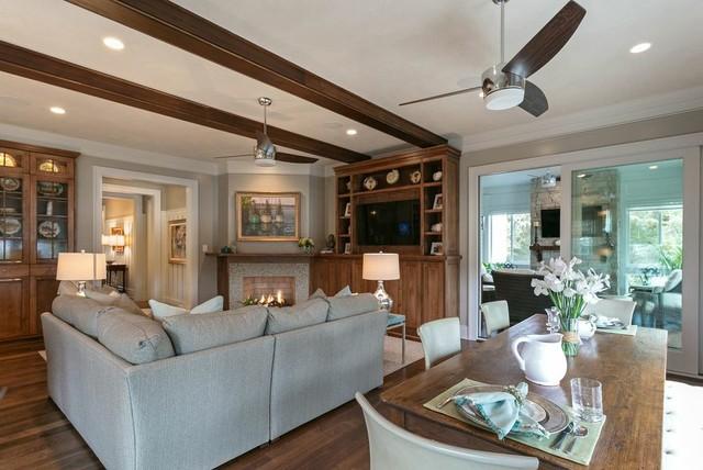 Wild Dunes Cottage beach-style-living-room