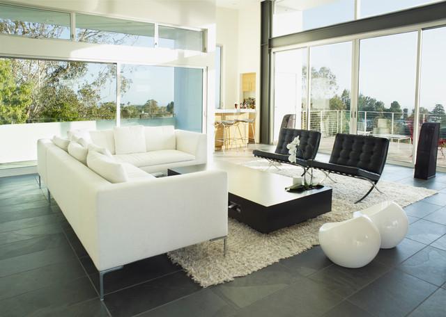 Wild oak modern living room los angeles by leanarch inc for Modern oak living room furniture