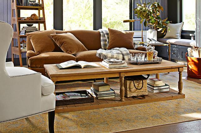 contemporary-living-room william sonoma home rugs