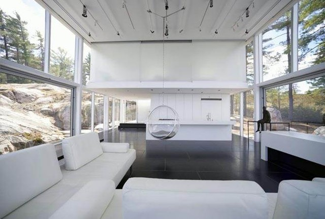 Williams Studio fashionable Archetypal Glass House style by GH3 Architects modern-living-room