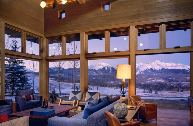 Wilson Mountain Residence - Rustic - Living Room - Other - by Poss Architecture + Planning and ...