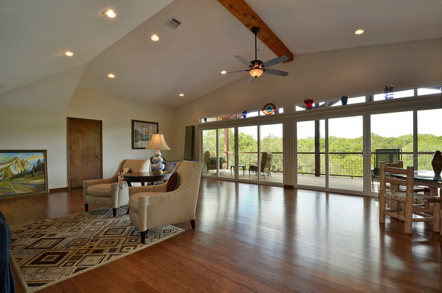 Wimberley Custom Home Addition traditional-living-room