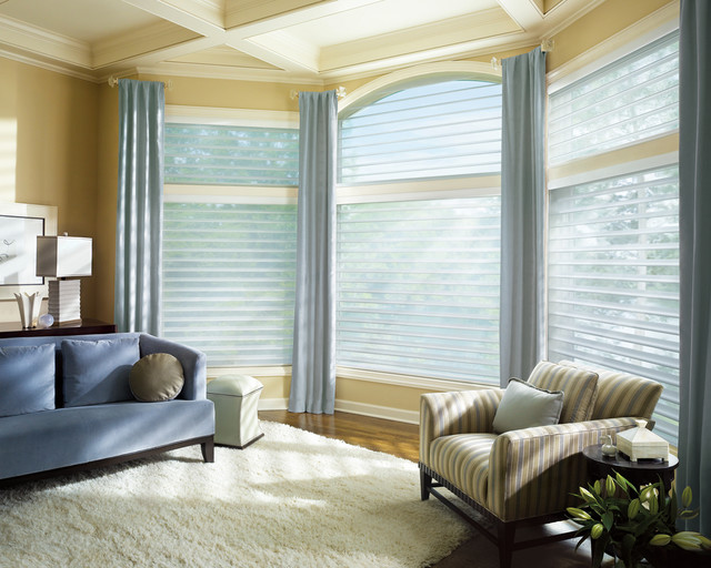 Window coverings for Contemporary window treatments for living room