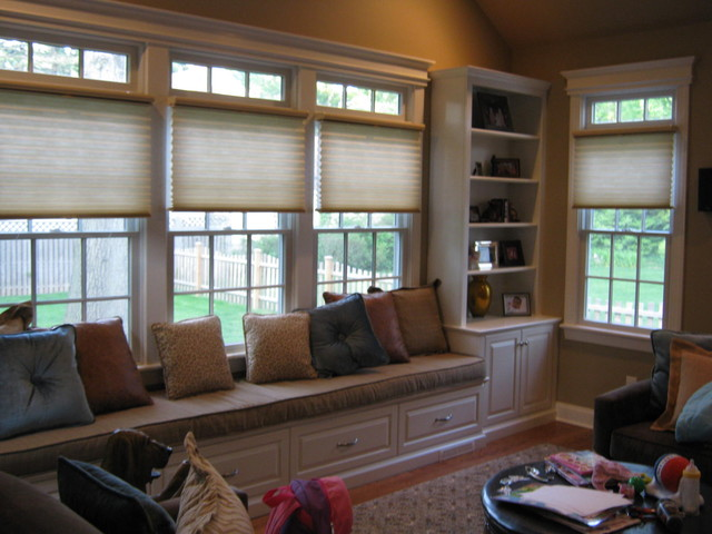 window seat traditional living room other metro by