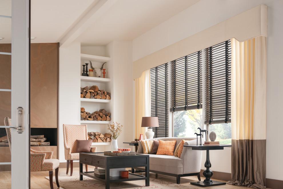 window treatment ideas  contemporary  living room