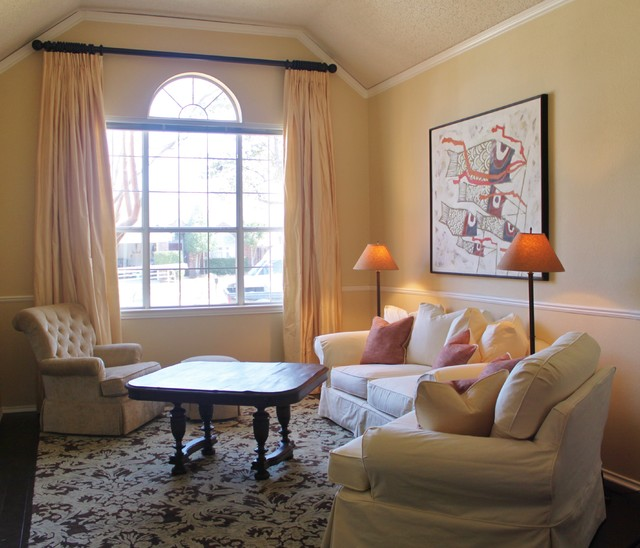 Window Treatments and Slipcovers - Flower Mound traditional-living-room