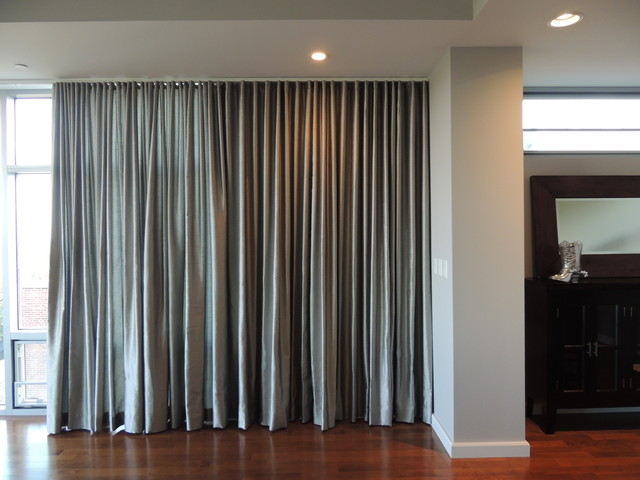 Window Treatments Contemporary Living Room St Louis By Befitting Fabr