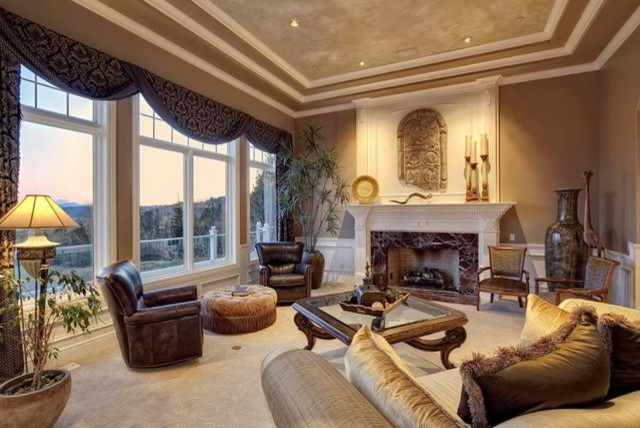 Window Treatments Traditional Living Room Seattle By Designs Mara