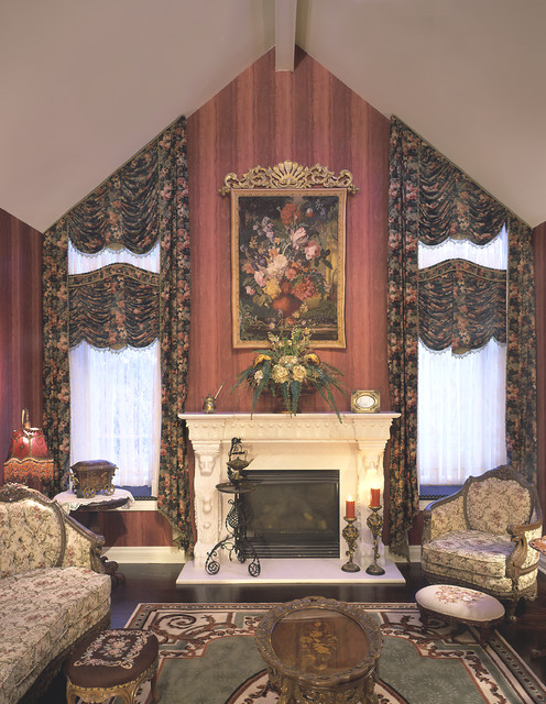 Window treatments traditional living room omaha by for Traditional window treatments living room