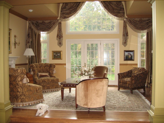 traditional window treatments living room window treatments 21166